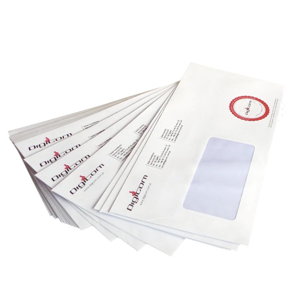 Digicom - niskonakładowy druk cyfrowy - koperty z indywidualnym nadrukiem