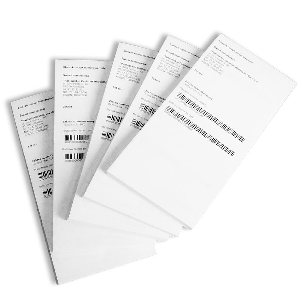 Digicom - niskonakładowy druk cyfrowy - bloczki receptowe