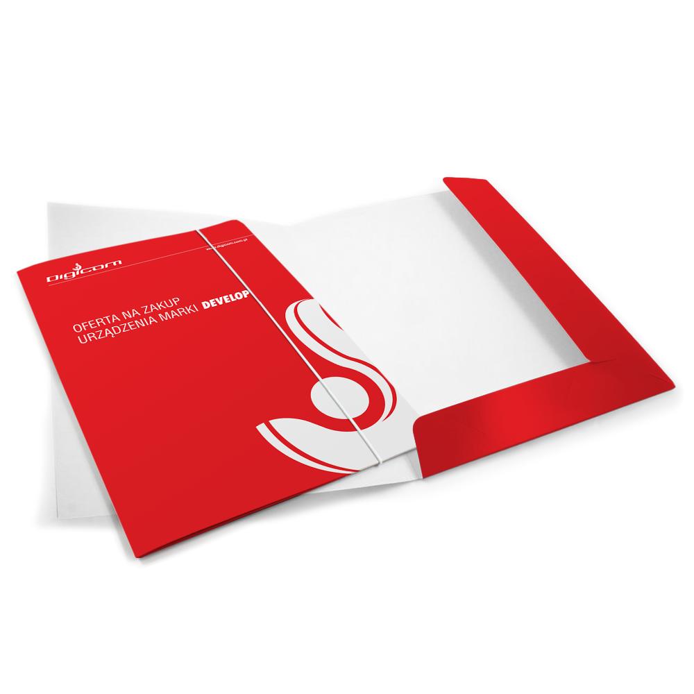 Digicom - wysokonakładowy druk offsetowy - teczki z wykrojnika